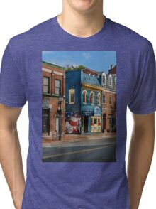City - Alexandria, VA - King Street Blues Tri-blend T-Shirt