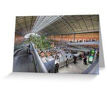 Puerta de Atocha Railway Station Hall #1 Greeting Card