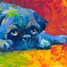 Impressionistic Pug dog portrait Svetlana Novikova by Svetlana  Novikova