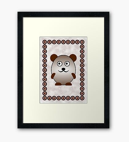 Little Cute Bear Framed Print