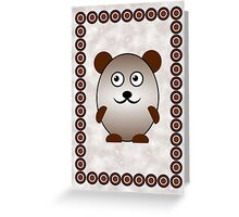 Little Cute Bear Greeting Card