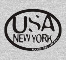 usa new york tshirt blue by rogers bros co by usamaine