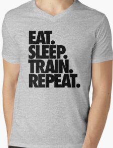 EAT. SLEEP. TRAIN. REPEAT. Mens V-Neck T-Shirt