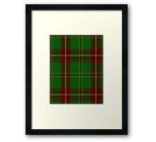 00384 Beard Family Portrait/Artifact Tartan  Framed Print