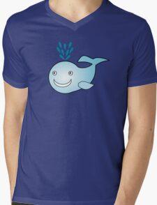 Little Cute Whale Mens V-Neck T-Shirt