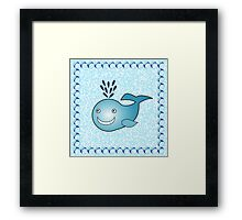 Little Cute Whale Framed Print