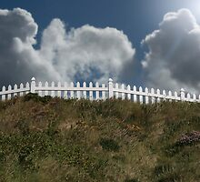 white fence by morrbyte