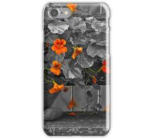 Nasturtiums In The Breeze - Selective Color iPhone Case/Skin