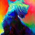Vibrant Scottish Terrier dog painting Svetlana Novikova by Svetlana  Novikova