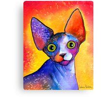 Sphynx Cat painting #3 Svetlana Novikova Canvas Print
