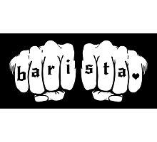 Barista fists Photographic Print