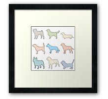Pastel Dogs Framed Print