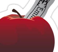 SwanQueen apple and dagger Sticker