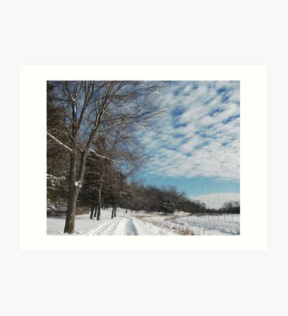 Powdered Scene, Fluffy Clouds Art Print