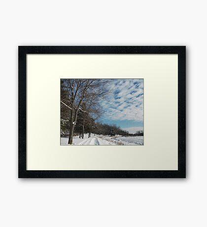 Powdered Scene, Fluffy Clouds Framed Print
