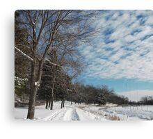 Powdered Scene, Fluffy Clouds Canvas Print