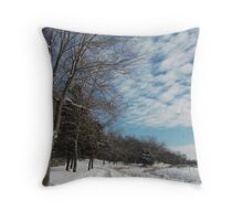 Powdered Scene, Fluffy Clouds Throw Pillow