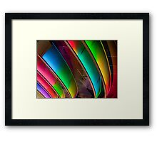 Hard Rock Rainbow Framed Print