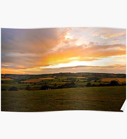 Sunset Landscape Poster