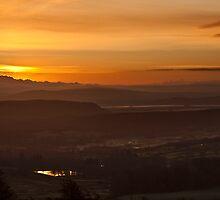 Misty sunrise over the Lakeland fells by Shaun Whiteman