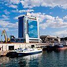 Seaport and Hotel in Odessa, Ukraine by Dfilyagin