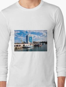 Seaport and Hotel in Odessa, Ukraine Long Sleeve T-Shirt