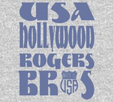 usa hollywood tshirt blue by rogers bros co by usahollywood