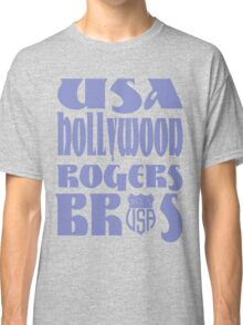 usa hollywood tshirt blue by rogers bros co Classic T-Shirt