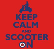 Keep Calm and Scooter On (blue) One Piece - Long Sleeve