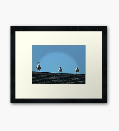 3 is the magic number Framed Print