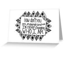 Imagine Dragons It's Time Lyric Greeting Card