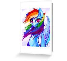 Rainbow Dash Greeting Card