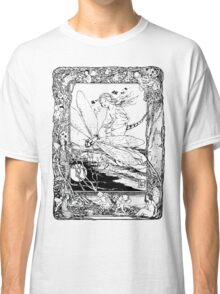 The Girl Riding the Dragonfly  Classic T-Shirt