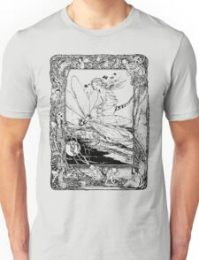 The Girl Riding the Dragonfly  Unisex T-Shirt