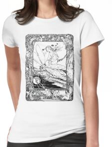The Girl Riding the Dragonfly  Womens Fitted T-Shirt