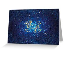 3D Blue Glass Mosaic with light reflections Greeting Card