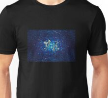 3D Blue Glass Mosaic with light reflections Unisex T-Shirt