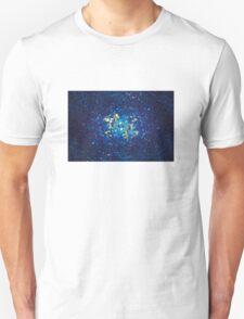 3D Blue Glass Mosaic with light reflections T-Shirt