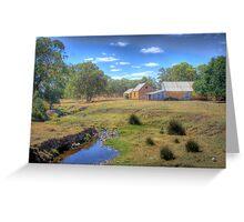 The Farm - Mount Barker Springs, Adelaide Hills, SA Greeting Card