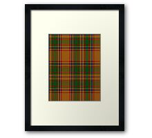 00386 Bird of Paradise Tartan  Framed Print