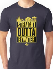 Straight Outta Bywater (Black and Gold) Unisex T-Shirt