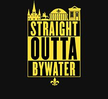 Straight Outta Bywater (Black and Gold) Women's Fitted V-Neck T-Shirt