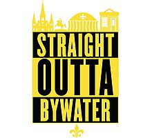 Straight Outta Bywater (Black and Gold) Photographic Print