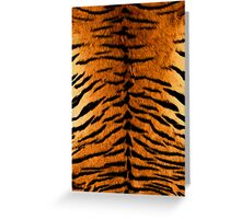 Tiger Print Oil Painting Greeting Card