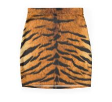Tiger Print Oil Painting Mini Skirt