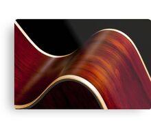 Ribbon Guitar Metal Print