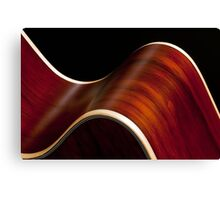 Ribbon Guitar Canvas Print