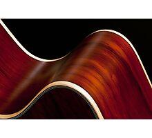 Ribbon Guitar Photographic Print