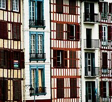 Houses in Bayonne, France by Nathan Jamin