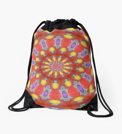 Yellow Circles Drawstring Bag